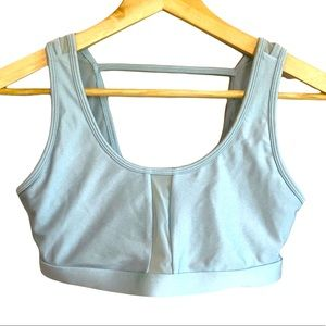 Fabletics sports bra with mesh panels